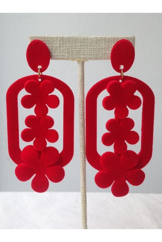 WHIM Red Alex Drop Earrings, P750