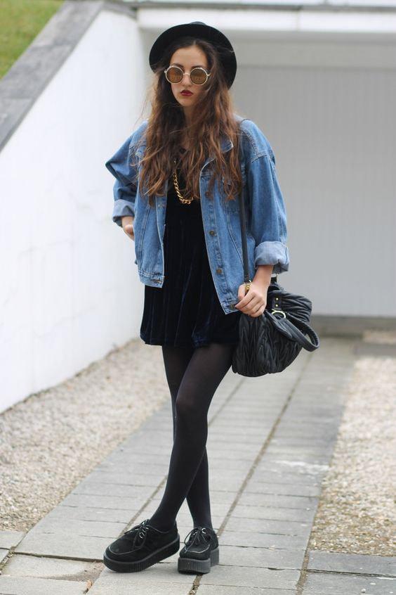 denim jacket-black