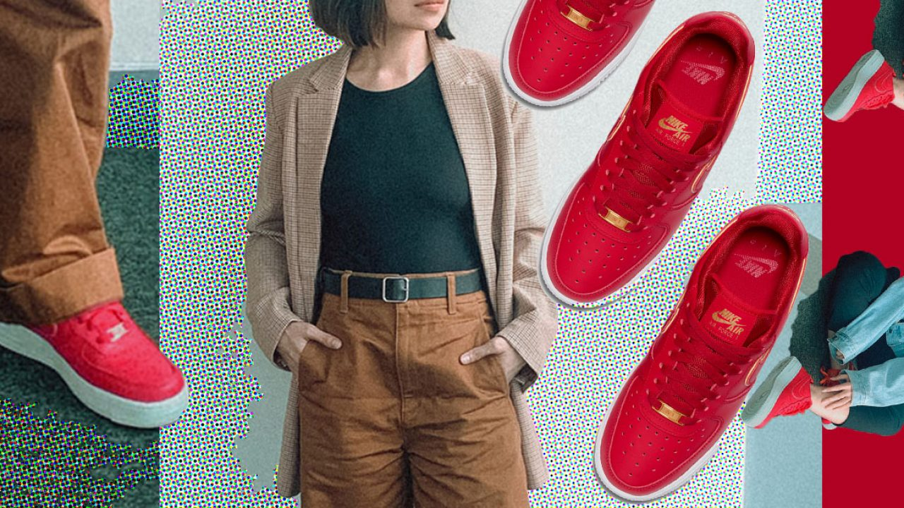 How to Wear The Red Nike AF1 '07 To Work All Week | Wonder